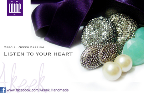 At Akeek Creations,Get a quality beads & stones accessories which is 100% hand-made, Listen to your heart & Buy 4 Earring from Akeek for only 1080SYP instead of 1800SYP
